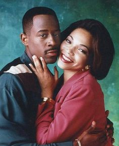 """Let's not forget about Martin Payne and Gina Waters! These two are hilarious! """"Martin Lawrence Show"""" Black Love Couples, Best Tv Couples, Movie Couples, Cute Couples Goals, Best Couple, Couple Goals, Famous Couples, Family Goals, Perfect Relationship"""