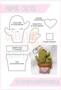 Cris Silva delivers online tools that help you to stay in control of your personal information and protect your online privacy. Felt Crafts Patterns, Felt Crafts Diy, Fabric Crafts, Crafts For Kids, Cactus Craft, Felt Decorations, Creation Couture, Felt Toys, Felt Ornaments