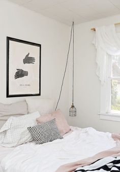 Love the dreamy vibe that rose quartz pink can give to a bedroom decor.