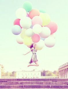 candy colored ballons