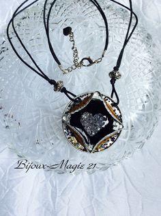 collier pendentif coeur de cristal et capsules café recyclées : Pendentif par bijoux-magie-21
