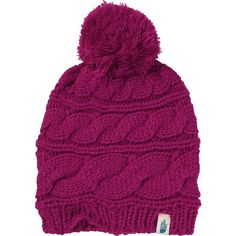 c6665618feb The North Face Triple Cable Pom Beanie ( 30) ❤ liked on Polyvore featuring  accessories