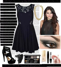 """""""LBD Set inspired by Selena Gomez"""" by emobee ❤ liked on Polyvore"""
