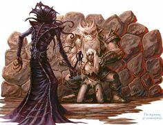 """The mind flayer, also known as an """"illithid"""", is one of the coolest, most """"D&D"""" monsters out there. They have tentacle heads, they have ps. Fantasy Races, Fantasy Rpg, Dark Fantasy, Mythological Creatures, Fantasy Creatures, Dungeons And Dragons, Mind Flayer, Dnd Monsters, Forgotten Realms"""