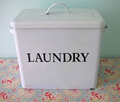 Laundry box.  Perfect for storing homemade laundry detergent.
