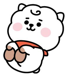 sticker by 💗 BTS. Discover all images by 💗 BTS. Find more awesome rj images on PicsArt. Kpop Drawings, Kawaii Drawings, Cartoon Wallpaper, Bts Wallpaper, Images Kawaii, Pop Stickers, Dibujos Cute, Bts Chibi, Line Friends