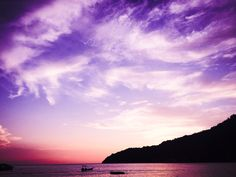 Violet sunset - Perentian Island
