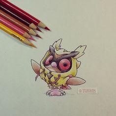 Artist: Itsbirdy   Pokémon   Hoothoot