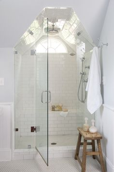 I love the symmetry of a shower in the eves                                                                                                                                                      More