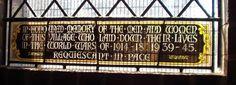 Barnsley War Memorials Project: Grimethorpe St Lukes, Memorial Window WW1 & WW2
