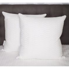 Waterford Marquis Raindrop Euro Pillows - Set of 2 - 22MRQ26-6E2PK