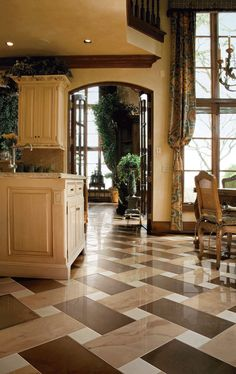 Love The Long Drapes And Floor · Tile Floor PatternsTile ...