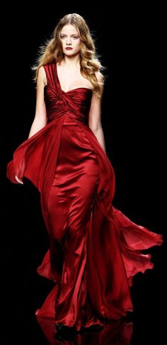 Zuhair Murad blood red gown