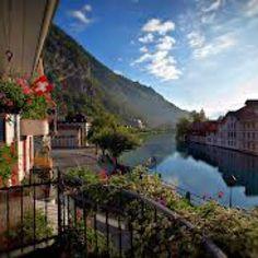 Interlaken, Switzerland The first time I had cheese fondue was here.