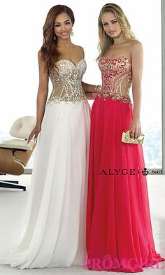 Floor Length Sweetheart Chiffon Alyce Dress at PromGirl.com