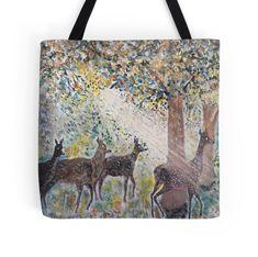 'Adorable deers - digitaly color manipulated' Tote Bag by TICU Modern Landscape Design, Landscape Concept, Garden Landscape Design, Modern Landscaping, Contemporary Landscape, Landscape Drawings, Landscape Illustration, Watercolor Landscape