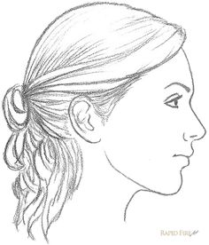 beauty Face drawing - 11 steps on how to draw a female face (side view) Face Side View Drawing, Face Profile Drawing, Half Face Drawing, Side View Of Face, Female Face Drawing, Human Drawing, Drawing Faces, How To Draw Profile, Human Face Sketch