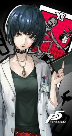 Persona 5 - Tae Takemi Wallpaper Aww she so cute (//∇//)(//∇//)