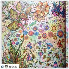 Instagram media desenhoscolorir - 1 parte da página dupla lindíssima da  @rpenze ・#johannabasford  #secretgarden #livrosdecolorir #livrosdecolorirparaadultos #jardimsecreto #desenhoscolorir