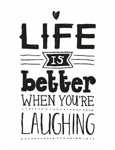 A little laughter goes a long way.