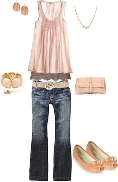 """""""Spring Peach"""" by heather-rolin on Polyvore"""
