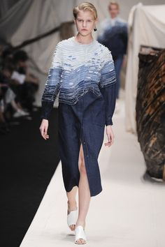 Alena Akhmadullina Russia Spring Summer 2016 Collection: Inspired by Hokusai's Great Wave Off Kanagawa #ss16