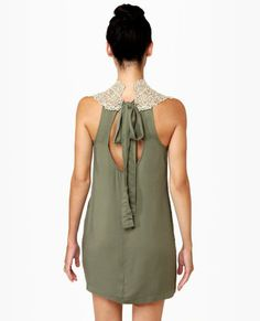 Midnight Mystery Gold and Olive Green Dress