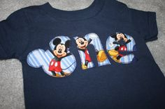Mickey Mouse Inspired One Shirt for 1st by RightUpYourAli1 on Etsy, $24.99