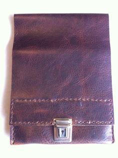 Slimline brown leather pencil case £19.49