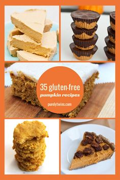 Collection of 35 healthy pumpkin recipes! You will never run out of goodies to make your family this holiday season! #glutenfree #eggfree #dairyfree #lowsugar #nutfree #fitfluential  | purelytwins.com
