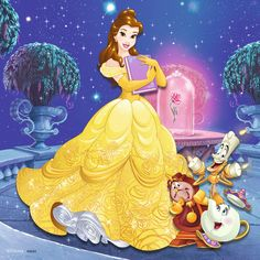 The Ravensburger Disney Princess Princess Adventure 3 x Jigsaw Puzzles are bright and colourful puzzles for fans everywhere to enjoy! Princesses Disney Belle, Belle Disney, Art Disney, Disney Wiki, Disney Kunst, Disney Films, Disney Magic, Disney Characters, Disney Princess Pictures