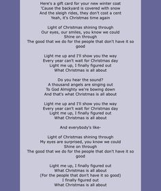 Light Of Christmas Lyrics.And I Remember The View Whenever I M Holding You