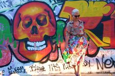 Fruit Skirt - Animal Print Blouse and Roses