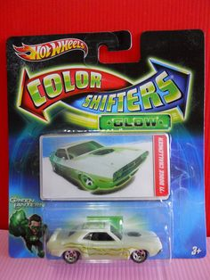 Hot Wheels Color Shifters GLOW Green Lantern ~ '71 Dodge Challenger