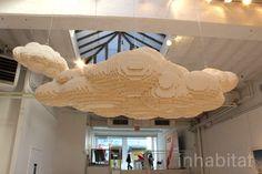 lego scuplture by nathan sawaya Lego Sculptures, Lion Sculpture, Chandelier, Ceiling Lights, Cloud, Home Decor, Art, Life, Art Background