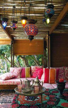 Moroccan patio lights