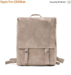 Black Friday 25% Leather backpack Laptop bag Satchel by KisimBags