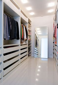 Beautiful closet! A true work of art and organizational interior design. #closet #organized   Instagram: InsaneClosets