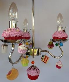 Over The Top Candy Chandelier | Candy Land Chandelier Fake Cupcake  Chandelier. I Love It