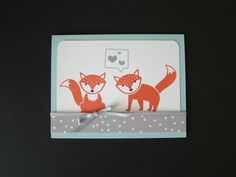 Learn how to make this cute fox card using the Foxy Friends stamp set and coordinating suite. Supply and ordering information on my blog here: http://qbeesqu...