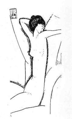 Амедео Модильяни. Ню. (Анна Ахматова). 1911. карандаш на бумаге. частная коллекция.