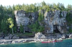 Georgian Bay in Tobermory, Ontario Hiked the Bruce Trail here years ago! Would love to return.it is gorgeous! Oh The Places You'll Go, Great Places, Places To Travel, Beautiful Places, Places To Visit, Water Pics, Water Pictures, New Travel, Summer Travel