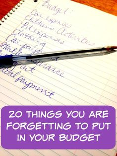Here are 20 things that people forget to put into their budgets when creating them!This can cause a hassle when you are trying to keep track of your money. Need to keep even more track? Use a Prepaid @visa_us @RushCard to help you budget by putting the money you know you are going to need on it and then use that to do your spending!  AD VisaClearPrepaid