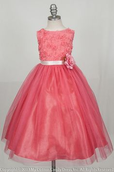 I could probably make this, Tish! Coral Bodice flower girl dress