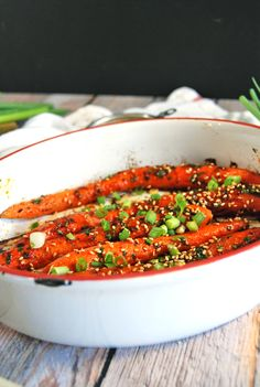 Asian-Style Oven Roasted Carrots | The Charming Detroiter
