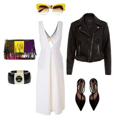 """Black & white with yellow touch"" by jahd on Polyvore featuring moda, BCBGMAXAZRIA, Steve Madden, New Look, Yves Saint Laurent, Dolce&Gabbana e Chanel"