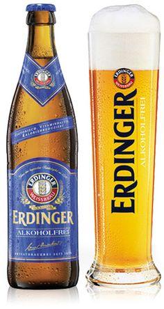 Erdinger Alcohol-Free wheat beer is one of the nicest beers we sell. With a crisp, earthy aroma of hops this wheat beer is full of flavour.Erdinger is a premium alcohol-free beer which is free of . Erdinger Beer, Beer Stein, Paulaner Bier, Best Alcohol, Alcohol Free, Beer Glassware, Non Alcoholic Beer, Pale Ale Beers, Wheat Beer