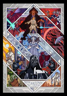 If I'm ever rich enough to have a stained glass window Star Wars Film, Star Wars Episoden, Star Wars Poster, Cultura Pop, Sith, Disney Stained Glass, Sea Flowers, Star Wars Wallpaper, Star War 3