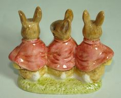 Early Beswick. Beatrix Potter. Flopsy, Mopsy and Cottontail.