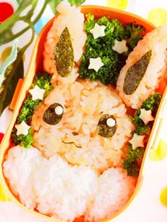 Eevee+(Pokemon)+Bento+with+Just+4+Ingredients